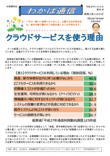 わかば通信 2017.5月号の画像