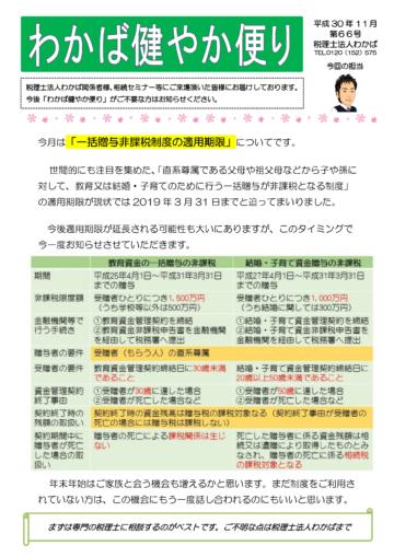 健やか便り 2018.11月号の画像